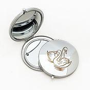 """Зеркала ручной работы. Ярмарка Мастеров - ручная работа Складное зеркальце  """"Лебединая нежность"""". Handmade."""