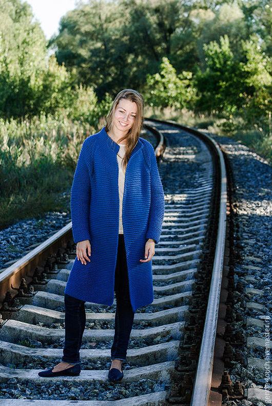 Кофты и свитера ручной работы. Ярмарка Мастеров - ручная работа. Купить кардиган-пальто (cardigan coat ). Handmade. Полушерсть