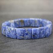 Украшения handmade. Livemaster - original item Natural Sodalite Bracelet with a cut. Handmade.