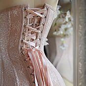 Одежда ручной работы. Ярмарка Мастеров - ручная работа Кружевной корсет из мягкой сеточки. Handmade.