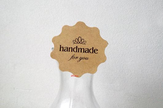 """Упаковка ручной работы. Ярмарка Мастеров - ручная работа. Купить Наклейки круглые """"HandMade"""" крафт Н79. Handmade. Наклейка, стикер"""