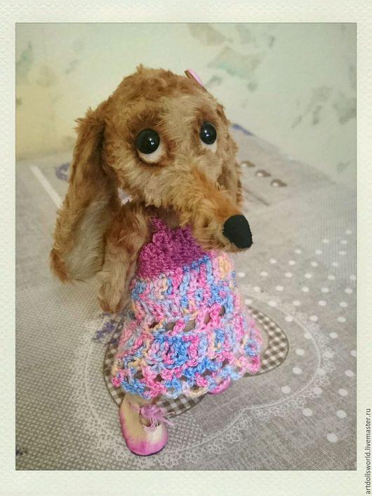 Мишки Тедди ручной работы. Ярмарка Мастеров - ручная работа. Купить Тедди такса арома-травы, застенчивая малышка, Авторская тедди такса. Handmade.