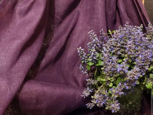 Текстиль, ковры ручной работы. Ярмарка Мастеров - ручная работа. Купить Шторы льняные Сиреневая Ночь. Handmade. Шторы, сиреневый