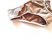 Одежда handmade. Livemaster - original item Panties made of cotton and lace. Handmade.