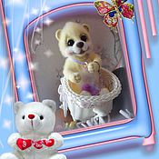 Куклы и игрушки handmade. Livemaster - original item bear wool. Handmade.