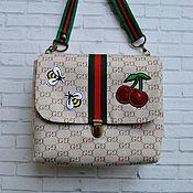 """handmade. Livemaster - original item Сумка для девочки """" a la Gucci"""". Handmade."""