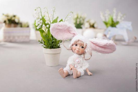 Коллекционные куклы ручной работы. Ярмарка Мастеров - ручная работа. Купить Funny Bunny 4. Handmade. Кремовый, зайка