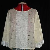 Одежда ручной работы. Ярмарка Мастеров - ручная работа Блуза-туника из шитья карамельная. Handmade.