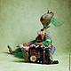 Сказочные персонажи ручной работы. Лягушка по имени Жо-жо. Саша Русская. Ярмарка Мастеров. Саша русская, акрил