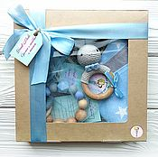 Куклы и игрушки handmade. Livemaster - original item Gift set boy blue gray. Handmade.