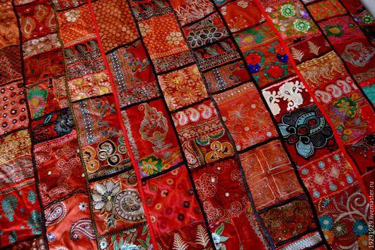Текстиль, ковры ручной работы. Ярмарка Мастеров - ручная работа. Купить Покрывало индийское. Handmade. Комбинированный, вышивка на ткани
