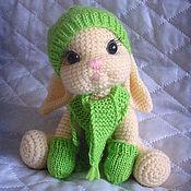 Куклы и игрушки ручной работы. Ярмарка Мастеров - ручная работа Зайка в варежках. Handmade.
