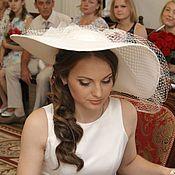 Аксессуары handmade. Livemaster - original item Wide-brimmed wedding hat with veil. Handmade.
