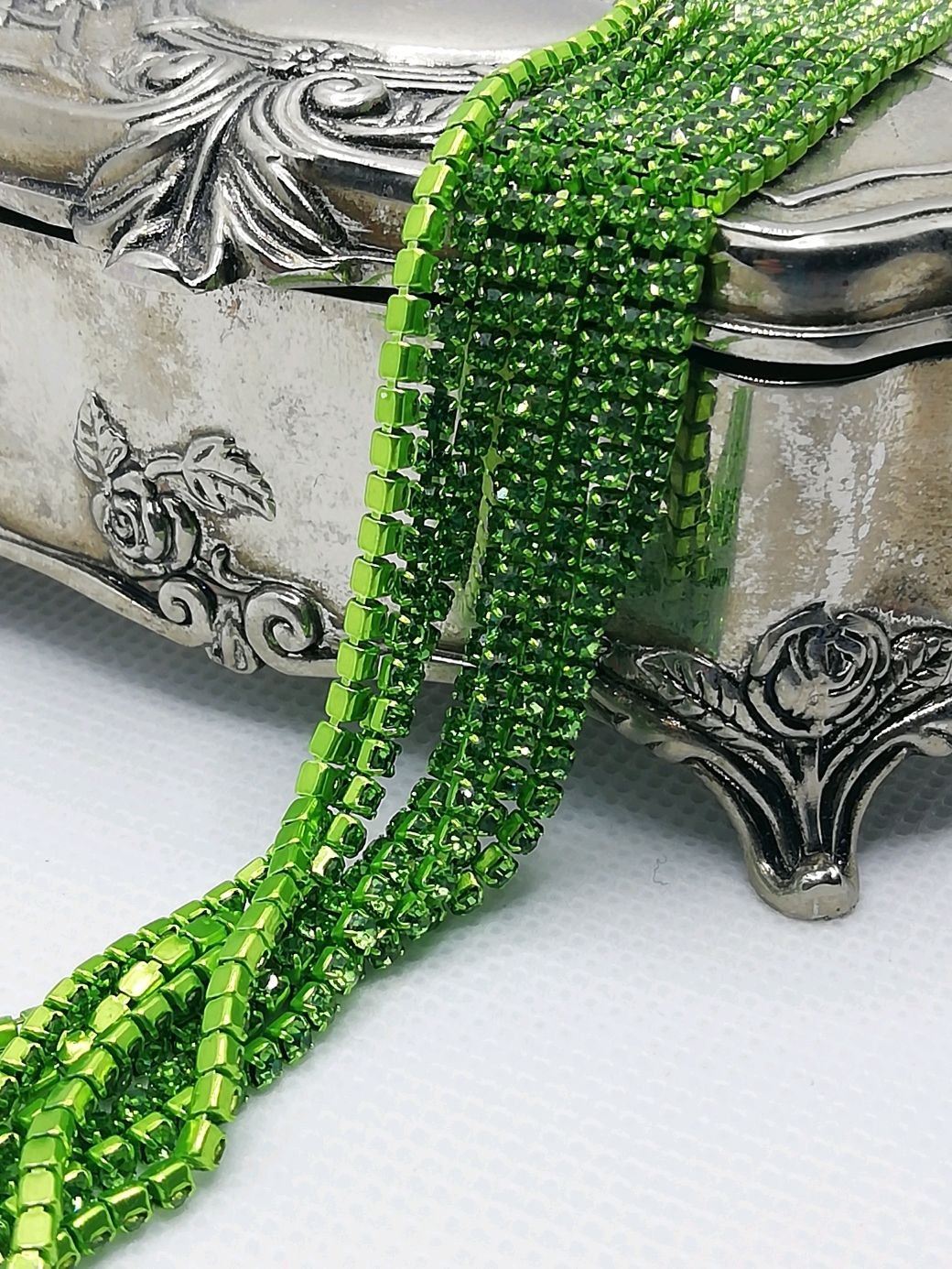 Cinta de peridoto de 2 mm, Chains, St. Petersburg,  Фото №1