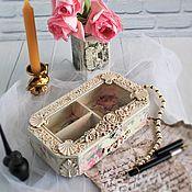 Для дома и интерьера handmade. Livemaster - original item Vintage jewelry box, antique jewelry box Tenderness, Shabby chic.. Handmade.