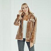 Одежда handmade. Livemaster - original item Beaver fur bomber jacket in brown. Handmade.