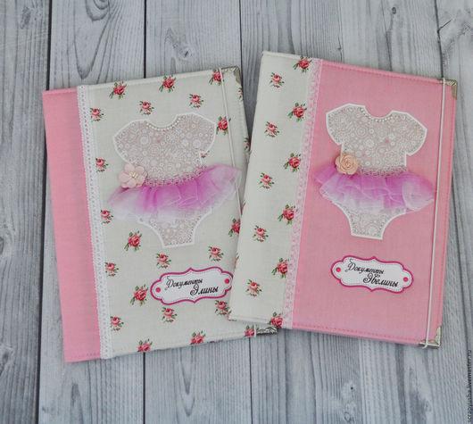 Подарки для новорожденных, ручной работы. Ярмарка Мастеров - ручная работа. Купить Папка для детских документов. Handmade. Розовый, для детей