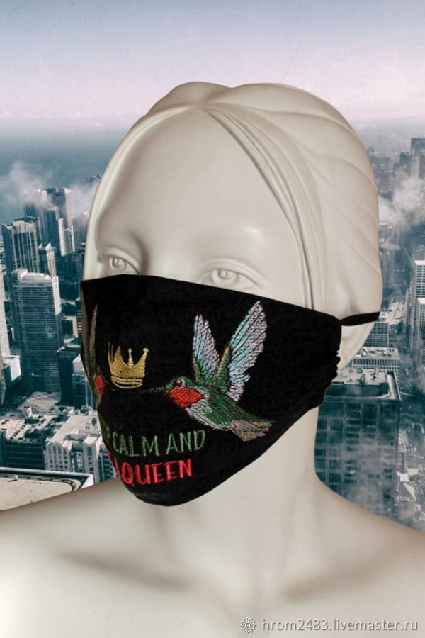 Reusable protective mask with embroidery, Protective masks, Moscow,  Фото №1