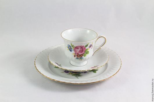 Винтажная посуда. Ярмарка Мастеров - ручная работа. Купить Чайное трио, Германия. Handmade. Комбинированный, чайная пара