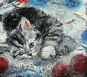 Картины и панно ручной работы. Ярмарка Мастеров - ручная работа Клубочки. Handmade.