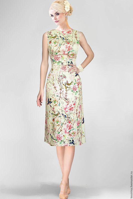 """Шитье ручной работы. Ярмарка Мастеров - ручная работа. Купить Сатин D&G """"Марианна"""". Handmade. Ткань для одежды, юбка"""