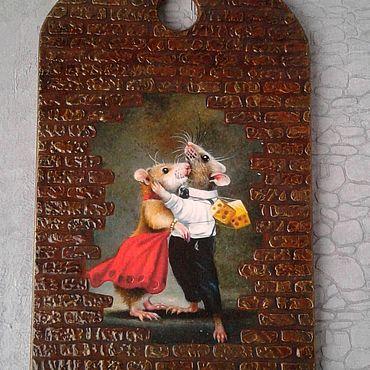 Посуда ручной работы. Ярмарка Мастеров - ручная работа Доски: Новогоднее танго. Handmade.