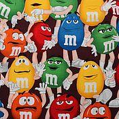 Материалы для творчества ручной работы. Ярмарка Мастеров - ручная работа Ткань хлопок американский M&M`s 50х55 см. Handmade.