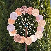 Для дома и интерьера ручной работы. Ярмарка Мастеров - ручная работа Кинетическая ветряная скульптура двойная  Мельница-Цветок. Handmade.