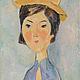 """Люди, ручной работы. Ярмарка Мастеров - ручная работа. Купить Картина маслом """"Портрет девушки в желтой шляпе"""". Handmade. Картина"""