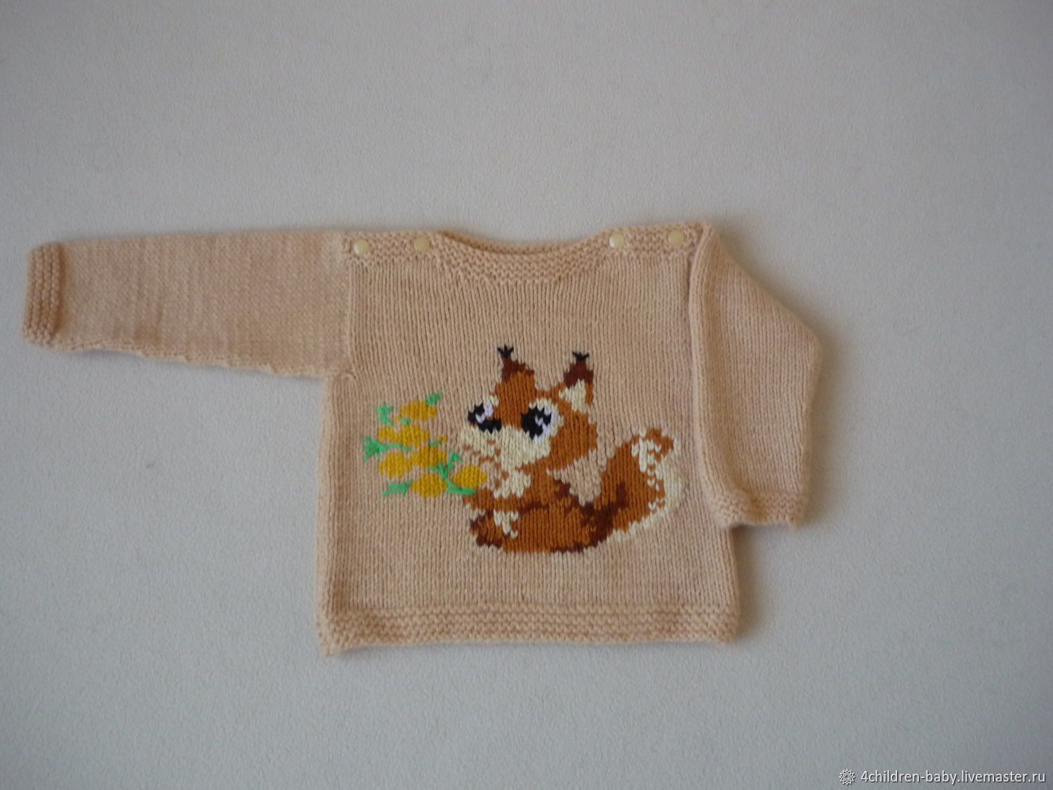 Clothes for Girls handmade. Livemaster - handmade. Buy Children's sweater with squirrel.Knitted sweater