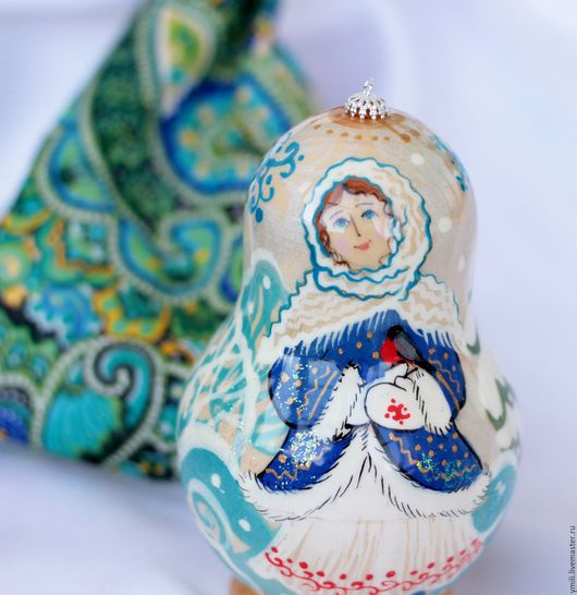 Оригинальные Новогодние подарки, рождественские подарки. Игрушка с авторской росписью. Матрешка шкатулка. Подарок с сюрпризом.