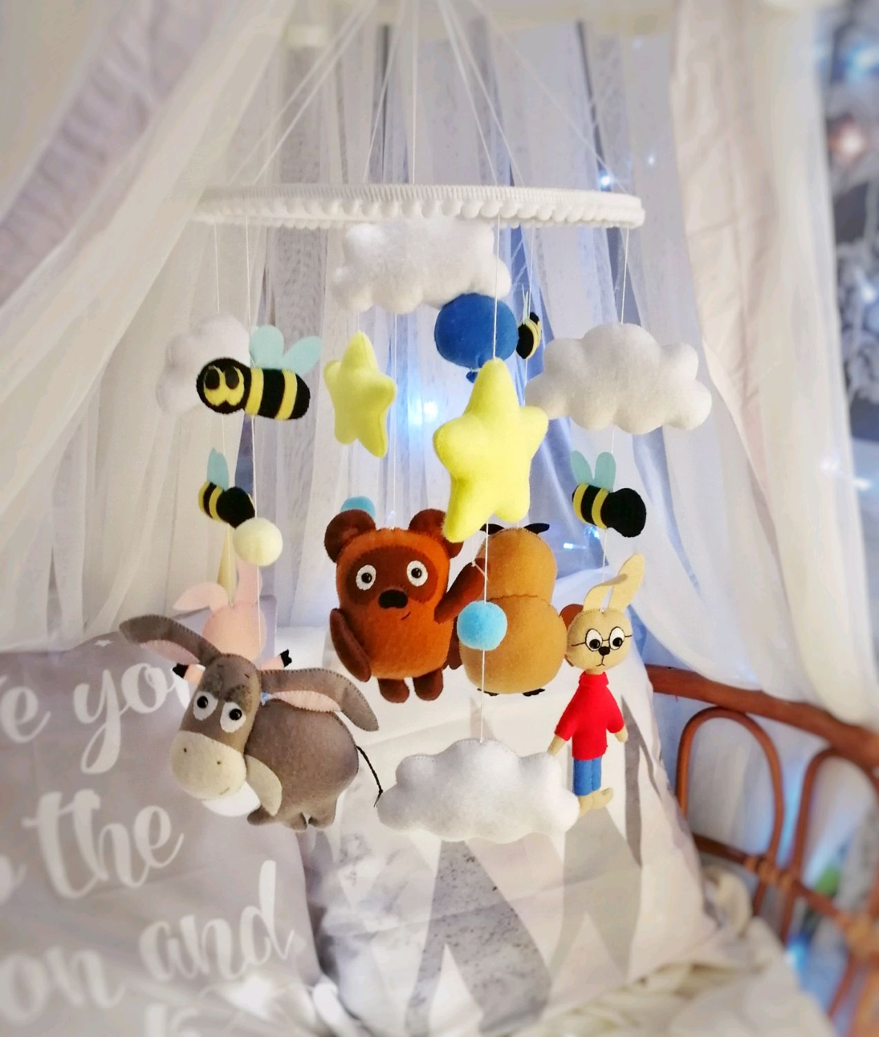 Mobile ' Winnie The Pooh', Toys for cribs, Moscow,  Фото №1
