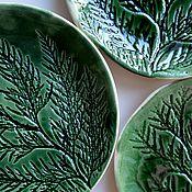 Посуда ручной работы. Ярмарка Мастеров - ручная работа Хвойные тарелочки. Handmade.