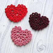 Материалы для творчества handmade. Livemaster - original item Hearts. Knitted items hearts.. Handmade.