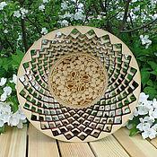 Для дома и интерьера ручной работы. Ярмарка Мастеров - ручная работа Ваза кедровая круглая. Handmade.