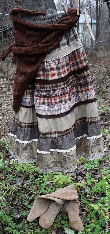 """Юбки ручной работы. Ярмарка Мастеров - ручная работа. Купить Длинная юбка бохо """"Козетта"""". Handmade. Длинная юбка"""