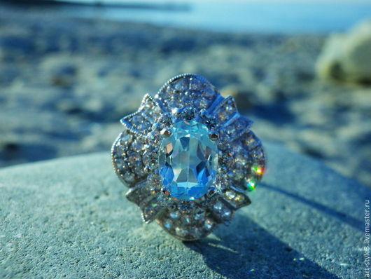Кольца ручной работы. Ярмарка Мастеров - ручная работа. Купить Перстень с топазами, серебро 925 пробы. Handmade. Драгоценные камни