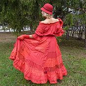 Одежда ручной работы. Ярмарка Мастеров - ручная работа Платье красное и прекрасное. Handmade.