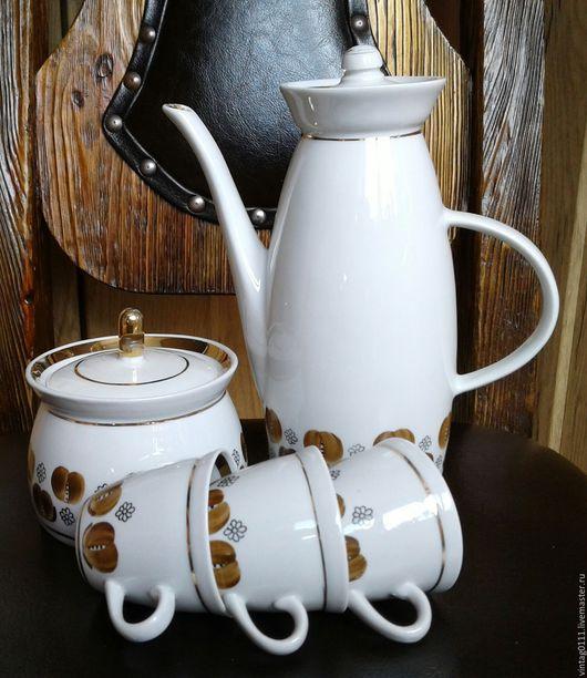 ...супер-мини  - 72!!!.. ...ретро-набор фарфоровой посуды для крепчайшего кофе, производства фарфорового завода в г. Полонное, Хмельницкой области (бывшая УССР), времен Советского Союза!!!