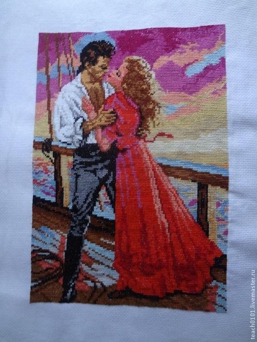 """Люди, ручной работы. Ярмарка Мастеров - ручная работа. Купить Вышивка """" Сердце ждет любви"""". Handmade. Разноцветный"""