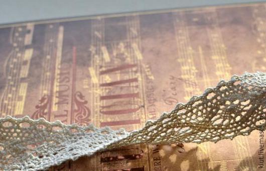 Шитье ручной работы. Ярмарка Мастеров - ручная работа. Купить Кружево  (2,5 см) Хлопок 100%. Handmade. Бежевый