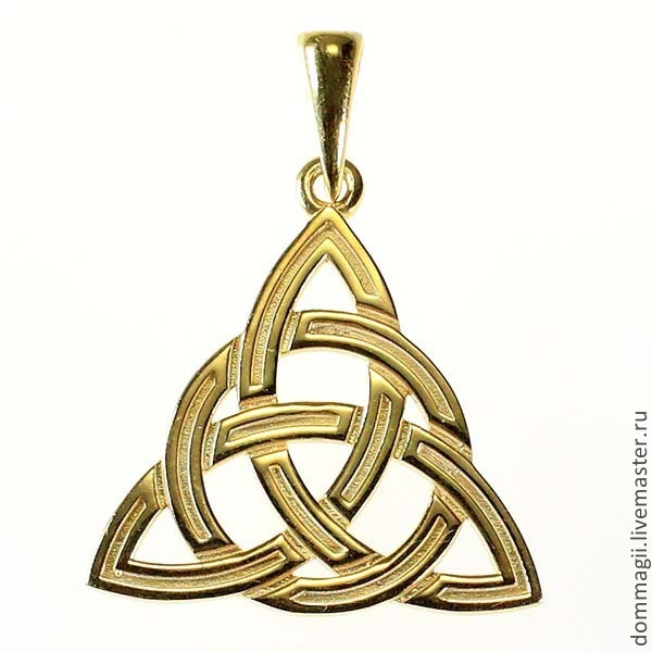 Triksele in a circle gold, Amulet, Moscow,  Фото №1
