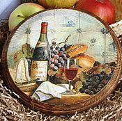 Для дома и интерьера ручной работы. Ярмарка Мастеров - ручная работа Сырная доска Ужин с вином. Handmade.
