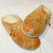 Обувь ручной работы. Ярмарка Мастеров - ручная работа Тапочки валяные Подружка - Осень. Handmade.