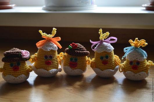 Игрушки животные, ручной работы. Ярмарка Мастеров - ручная работа. Купить Цыплятки. Handmade. Желтый, глазки для игрушек