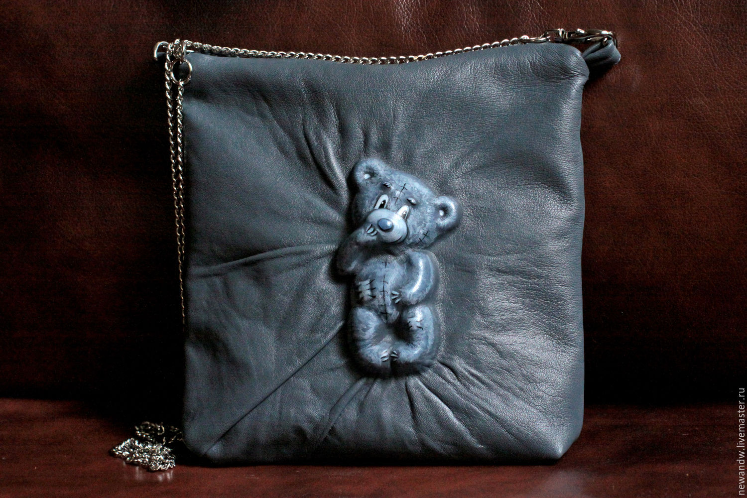 Bag genuine leather ', Mismated' with 3D effect, Classic Bag, Moscow,  Фото №1
