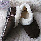Обувь ручной работы handmade. Livemaster - original item Men`s sheepskin Slippers. Handmade.