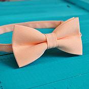 Аксессуары handmade. Livemaster - original item Tie soft peach / butterfly-tie for peach wedding. Handmade.