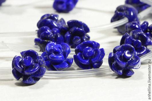 Для украшений ручной работы. Ярмарка Мастеров - ручная работа. Купить Роза из природного лазурита. Handmade. Тёмно-синий