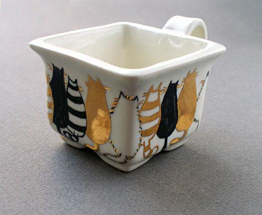 """Сервизы, чайные пары ручной работы. Ярмарка Мастеров - ручная работа. Купить Чайная пара """"Аквариум"""". Handmade. Авторская керамика"""